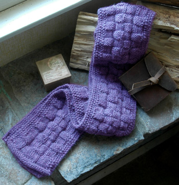 Free Knitting Patterns Hats Scarves Gloves : Lavender Scarf I live on a farm ...