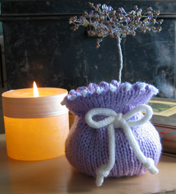 Firefly Small Knitted Drawstring Gift Bag