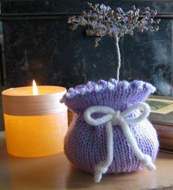 Knitting Pattern Small Drawstring Bag : Firefly Small Knitted Drawstring Gift Bag
