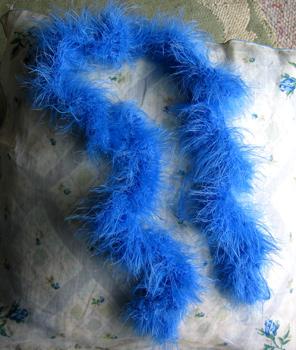 Fireflys Hand Knit Blue Boa for a Little Girl