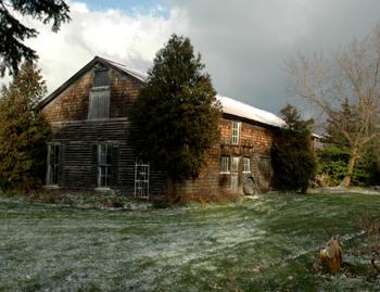 Fireflys Barn in Early December Snow