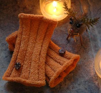 Firefly Knits Lucky Warm Fuzzy Fingerless Gloves