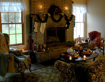 Fireflys Fireplace Sitting Area