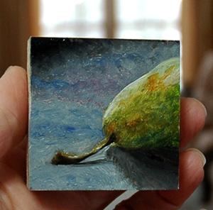 Fireflys pretty little oil painting