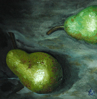 Antique Pears an Oil Painting by J L Fleckenstein