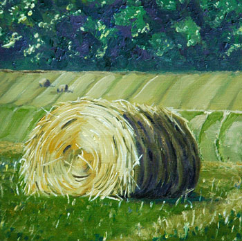 Hay Bale 1 an oil painting by J L Fleckenstein