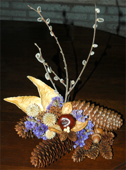A dried arrangement Firefly made