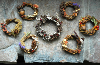 And still more of the mini willow wreaths Firefly is making