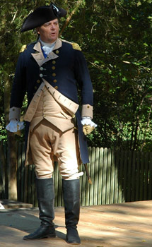 General George Washington as portrayed by Interpreter by Ron Carnigie at Colonial Williamsburg