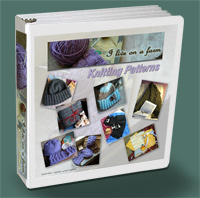 Binder of Fireflys knitting patterns for retail shops