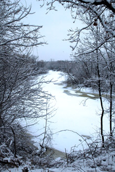 Fireflys river on a snow day this winter