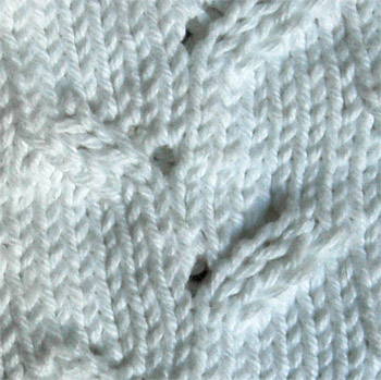 Emily sweater stitch pattern detail