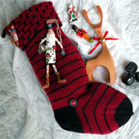 The Chimney Top Christmas Stocking pattern by firefly