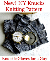 NY Knucks Knitting Pattern Knuckle Gloves for a Guy