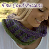 Free autumn cowl knitting pattern