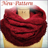Cozy, easy to knit cowl knitting pattern